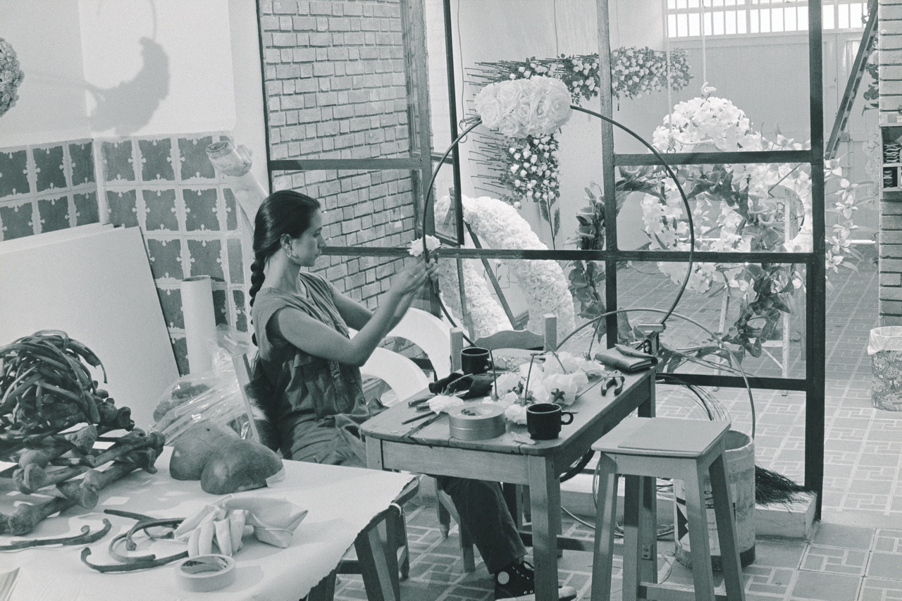 Artist studio 1991, Bogota.