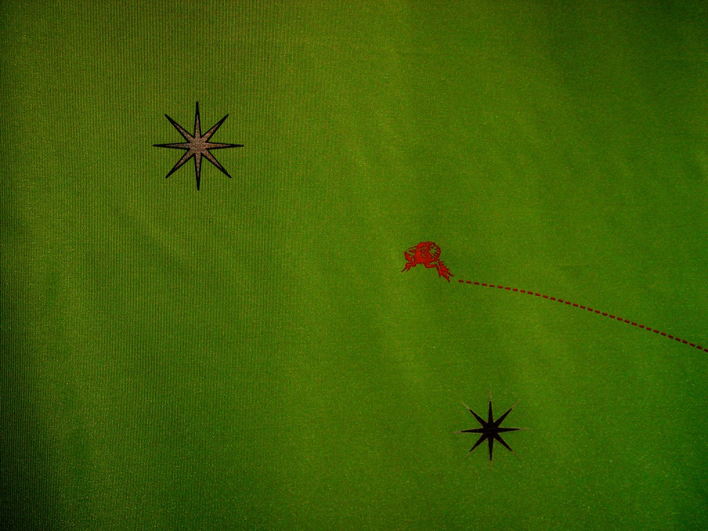 leaping flea detail