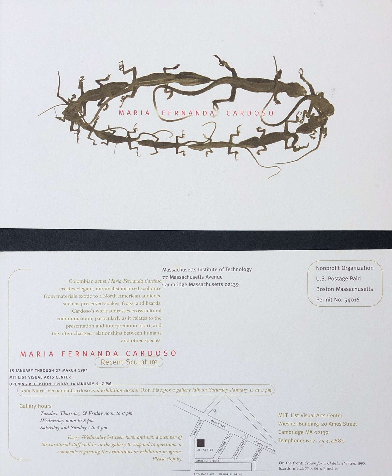 1994_MIT invitation_frogs lizards and snakes