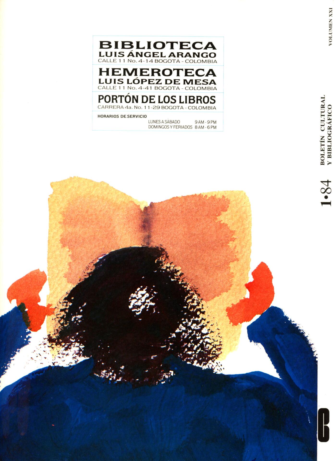 Cardoso. María Fernanda. Contraportada. Boletín Cultural y Bibliográfico XXI. no. 1. 1984_2