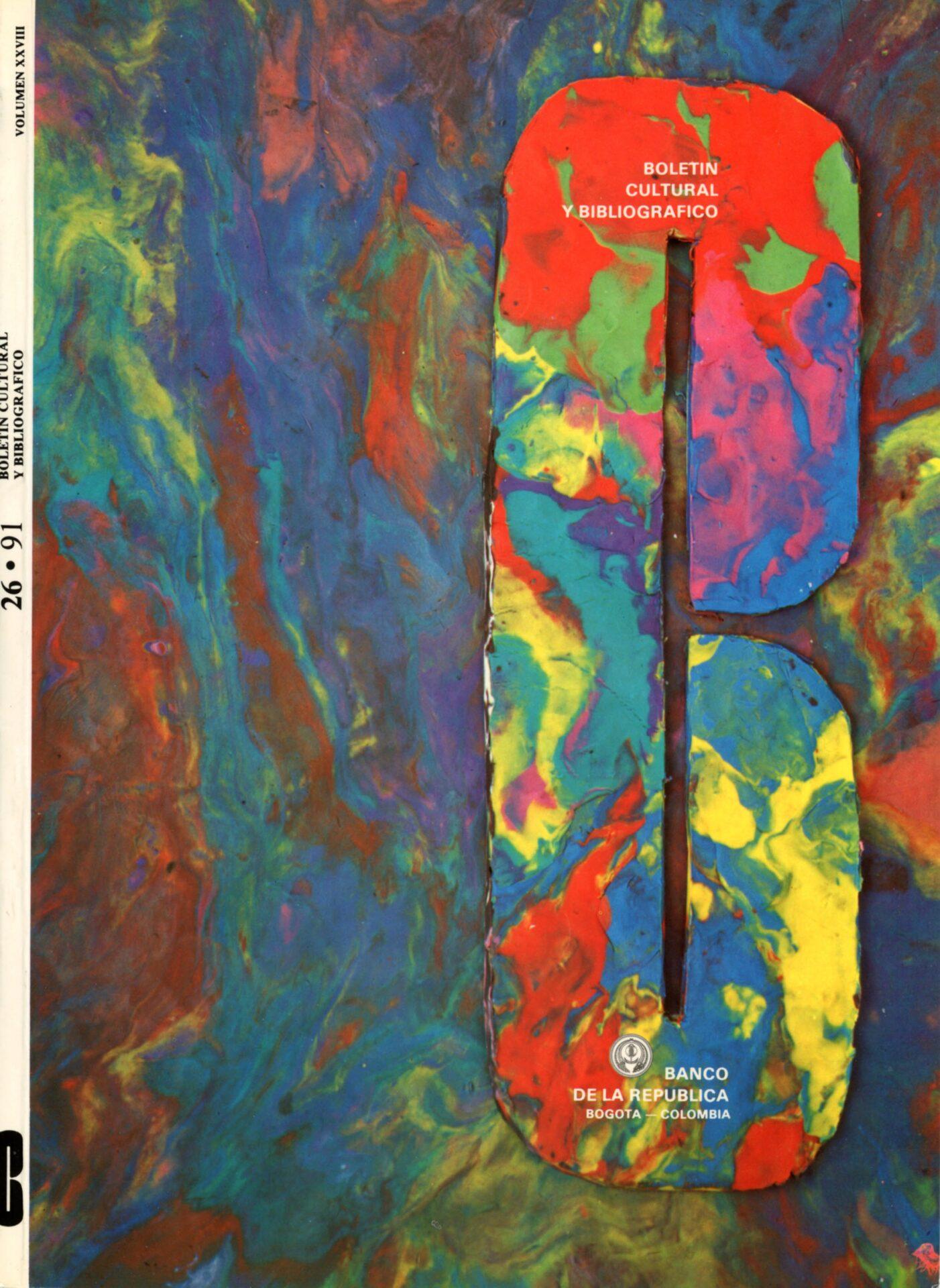 Cardoso. María Fernanda. Portada. Boletín Cultural y Bibliográfico XXVIII. no. 26. 1991