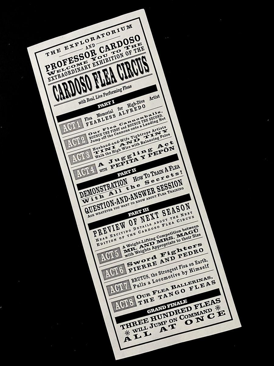 Cardoso Flea Circus Exploratorium TICKET