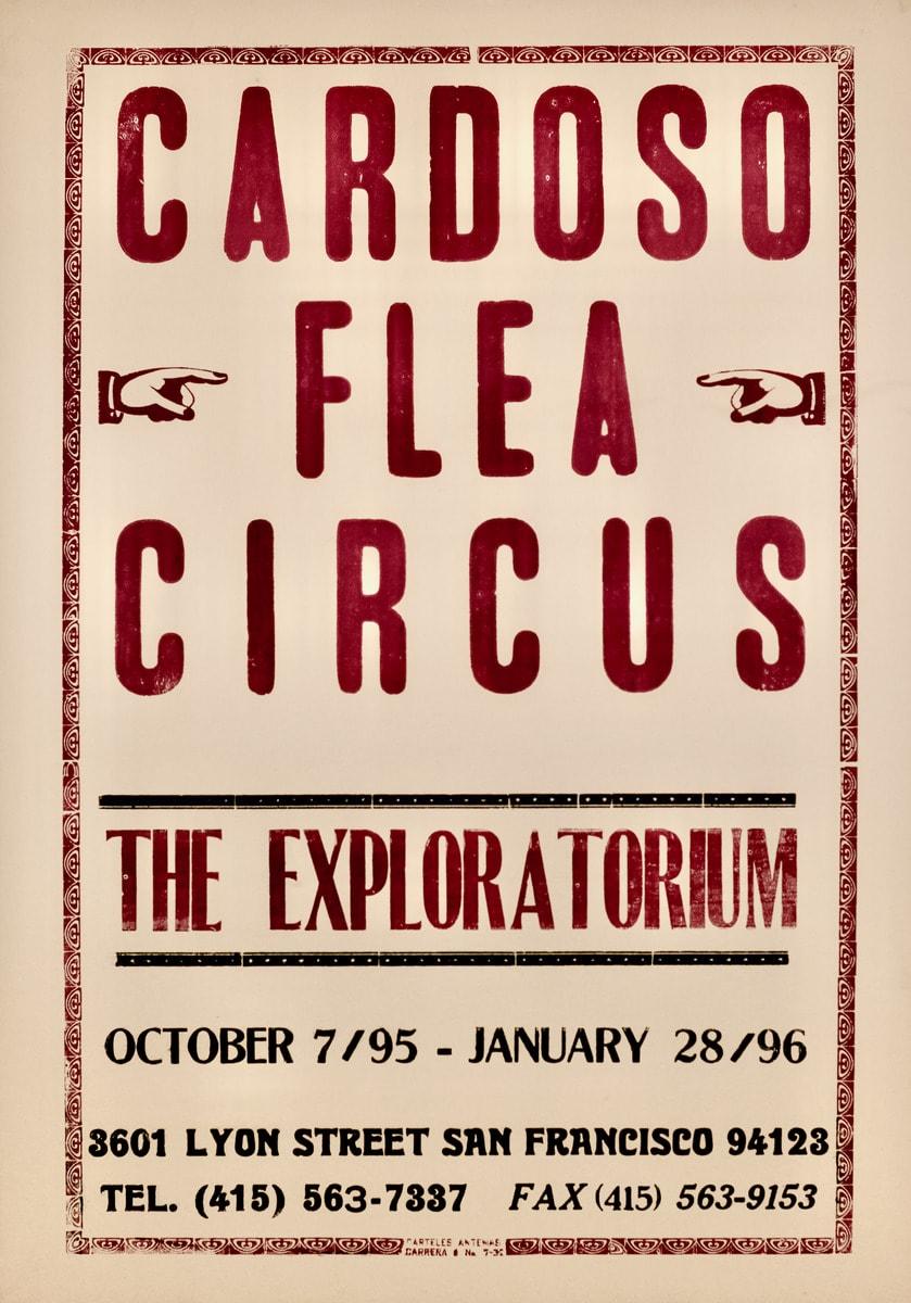 Cardoso Flea Circus Poster